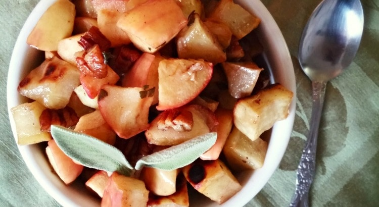 Browned Butter Sage Sweet Potatoes and Apples