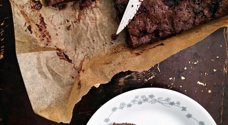 Chocolate Cherry Fudge Brownies