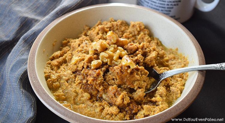 Grain-Free Pumpkin Walnut Porridge | DoYouEvenPaleo.net