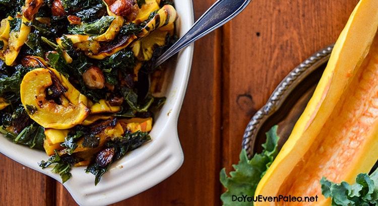 Warm Winter Kale & Delicata Squash Salad