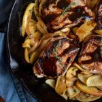 One Skillet Pork Chops with Apples & Onions | DoYouEvenPaleo.net