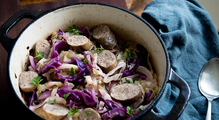 Braised Cabbage & Sausage | DoYouEvenPaleo.net
