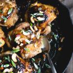 One Skillet Kung Pao Chicken Thighs | DoYouEvenPaleo.net