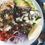 Mediterranean Chicken & Cauliflower Rice Bowls   DoYouEvenPaleo.net