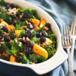 Warm Kale & Butternut Squash Salad with Cranberries & Walnuts | DoYouEvenPaleo.net