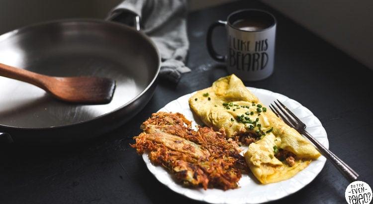 Paleo Seafood Omelette with Hollandaise Sauce | DoYouEvenPaleo.net