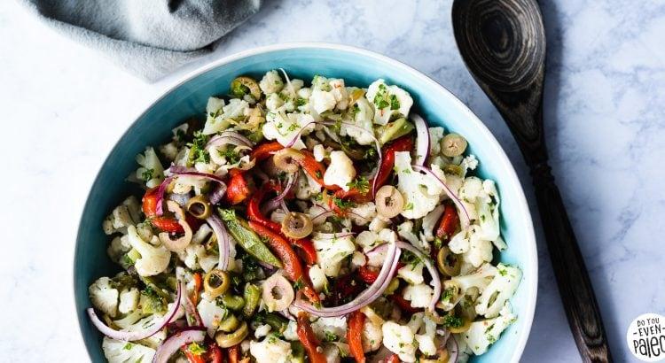 Paleo Mediterranean Cauliflower Salad Recipe   DoYouEvenPaleo.net