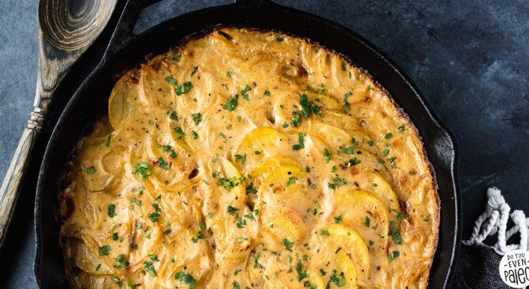 Dairy Free Scalloped Potatoes Recipe | DoYouEvenPaleo.net