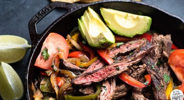Quick and Easy Whole30 Skillet Steak Fajitas