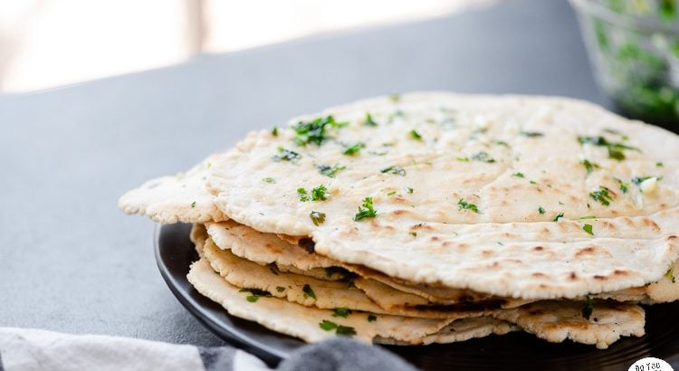 Cassava flour flatbreads stacked on a plate
