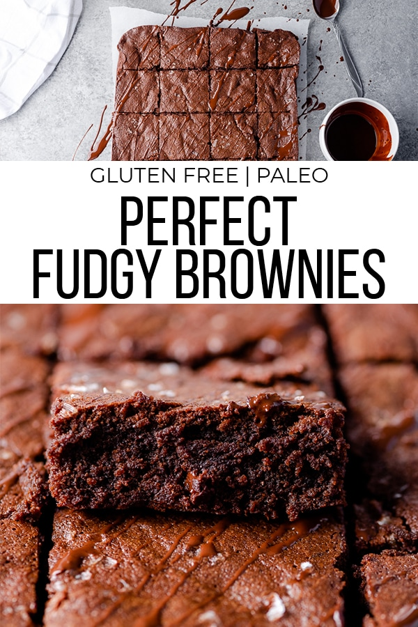 Gluten free brownie recipe with text overlay