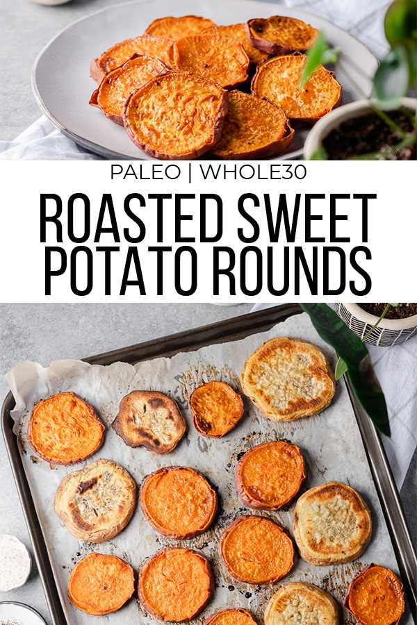 Roasted Sweet potatoes pinterest image